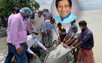তিস্তা নদী ভাঙ্গনরোধে জিওব্যাগ স্থাপন কাজের উদ্বোধন