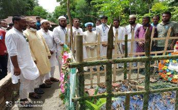 শফিউল বারী বাবু'র কবর জিয়ারতে স্বেচ্ছাসেবক দলের নেতৃবৃন্দ