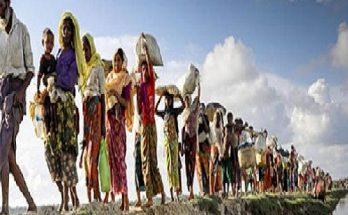 ভাসানচরের উদ্দেশে রোহিঙ্গাদের বিশাল বহর