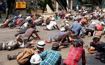 মিয়ানমারে ৩৮ জন নিহত, আবারও রাস্তায় বিক্ষোভকারীরা