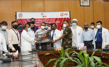 বিএসএমএমইউ-কে স্বাস্থ্যসুরক্ষা সামগ্রী উপহার দিল 'নগদ'
